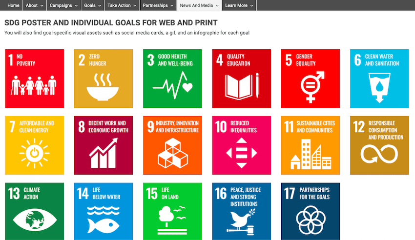 SDG POSTER AND INDIVIDUAL GOALS FOR WEB AND PRINT