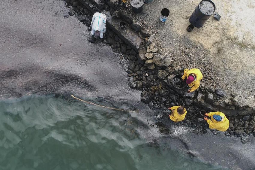 How Wedding Drone Photographers In Mauritius Are Helping Coordinate Oil Spill Cleanup Efforts