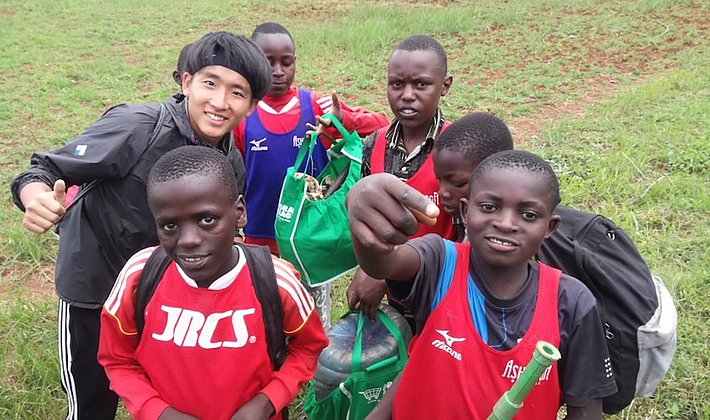 【アフリカで大学生が企画】ケニアのサッカー少年たちのゴミ拾いイベント開催レポートの画像