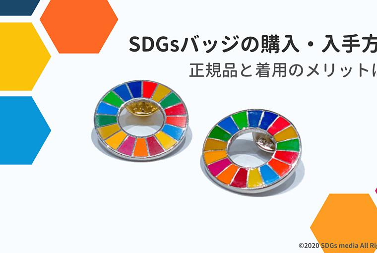 SDGsバッジの購入・入手方法 正規品はあるの?付けるメリットは?の画像